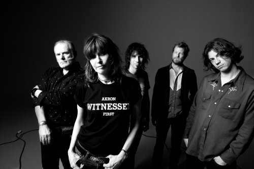 The new Pretenders lineup from left, Martin Chambers, drums, Chrissie Hynde, vocals and guitar, Nick Wilkinson, bass, Eric Heywood, pedal steel guitar, and James Walbourne, lead guitar.