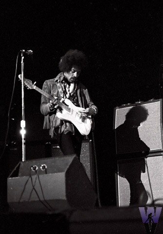 Jim Hendrix at Woolsey Hall, Yale, Nov. 1968. Photo by Joe Sela. Courtesy of Wolfgang's Vault.